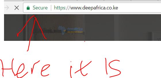 deepAfrica, free SSL Certificate in Kenya