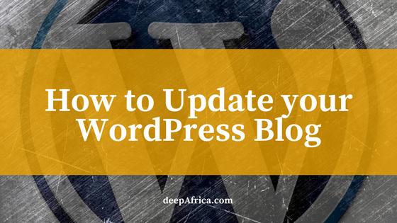 How to update WordPress CMS